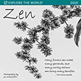Zen Wall Calendar 2019 Monthly January-December 12'' x 12''