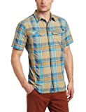 Columbia Men's Silver Ridge Multi Plaid Short Sleeve Shirt, Small, Riptide/Large Plaid