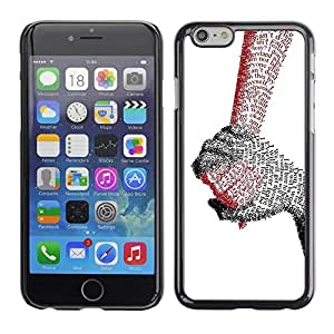 TopCaseStore / la caja del caucho duro de la cubierta de protección de la piel - Hands Of Love - Apple iPhone 6 Plus 5.5