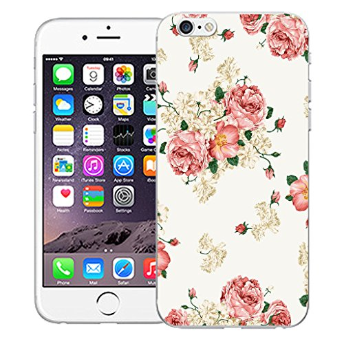 "Mobile Case Mate iPhone 6 4.7"" Silicone Coque couverture case cover Pare-chocs + STYLET - Pink Carnation pattern (SILICON)"