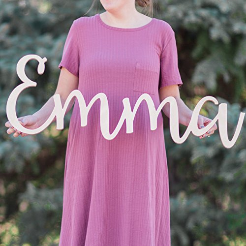 Custom Personalized Wooden Name Sign 8-24' tall - Emma Font Letters Baby Name Plaque PAINTED nursery name nursery decor wooden wall art, above a crib