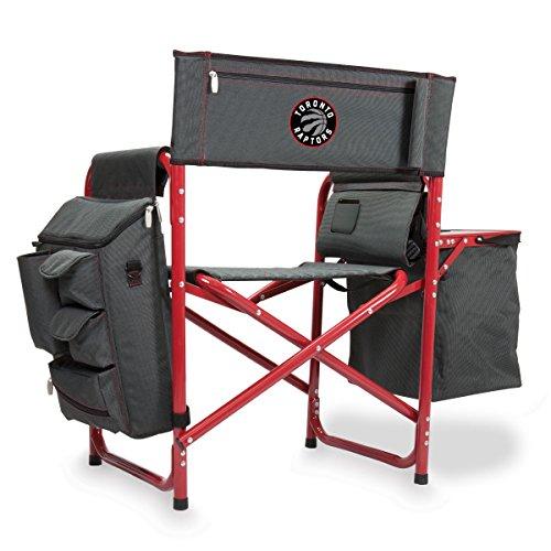 Toronto Raptors Folding Chair - PICNIC TIME NBA Toronto Raptors Portable Folding Fusion Chair, Grey/Red