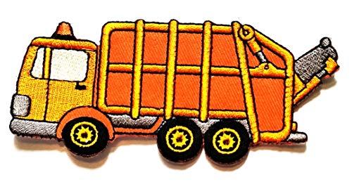 Best Deals! Nipitshop Patches Orange Garbage Truck Cartoon Children Kid Patch Clothes Bag T-Shirt Je...