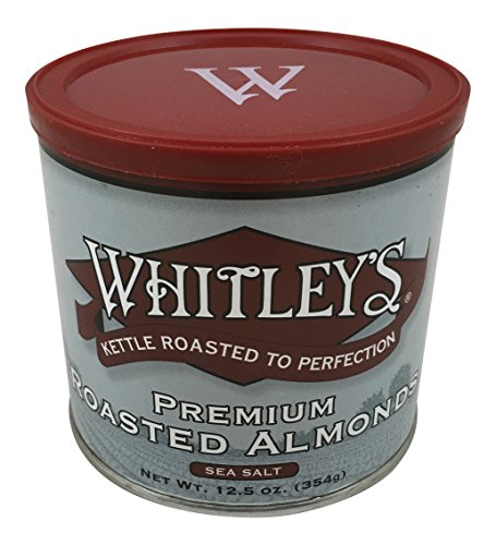 Kettle Almond - Whitley's Premium Kettle Roasted Almonds with Sea Salt 12.5 Oz.