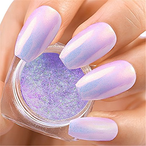 4 Boxes Rainbow Mermaid Unicorn Nail Powder Candy Color Aurora Chameleon Chrome Nail Glitter Manicure Pigments Powder Dip Kit TintTower by TintTower