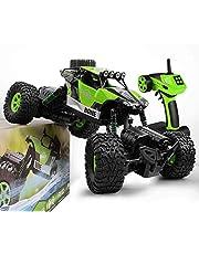 GizmoVine RC Coche Teledirigido Rock Crawler 4WD 1/16 2.4Ghz 20km/h Fuera del Camino Carro de Control Remoto Electrónico Camión Monstruo Impermeable Juguetes para Niños y Adultos