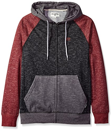 Billabong Men's Balance Zip Hoodies, Fig Heather, Small