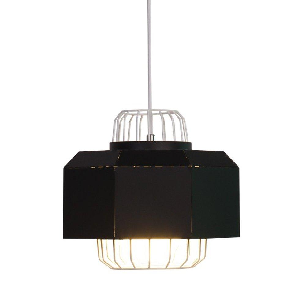 Einfache Eisen Kronleuchter, Nordic LED Esstisch Beleuchtung Deckenleuchten Moderne Kreative Wohnzimmer Cafe Schlafzimmer Flur Pendelleuchte (Farbe   schwarz-B-M)