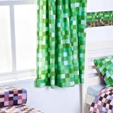 Green Pixels Design 66 x 54 Ready Made Tape Top Curtain Pair by Ready Steady Bed