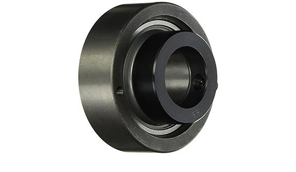 2.835 OD Set Screw Locking Collar 9//16 Bore Wide Inner Ring Peer Bearing HCC202-9 Cast Iron Cylindrical Cartridge Unit Single Lip Seal