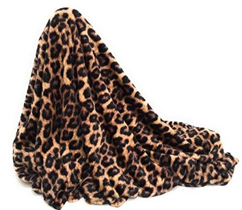 Leopard Animal Print Luxurious Soft Plush Extra Large Throw Blanket