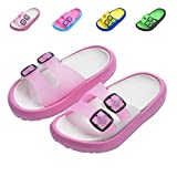 Toddler Little Kids Summer Sandals Non-Slip Boy Girl Slide Lightweight Beach Water Shoes Shower Pool Slippers (Little Kid 11.5-12.5M, Pink)