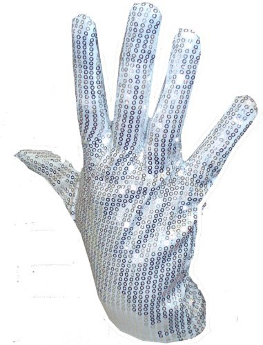 Silver Adult's Sequin Glove