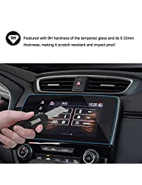 2017 2018 2019 CRV EX EX-L Touring 7 Inch Car Navigation Screen Protector, HiMoliwa Scratch-Resistant Ultra HD in-Dash Clear Tempered Glass Screen 9H Hardness 0.33mm