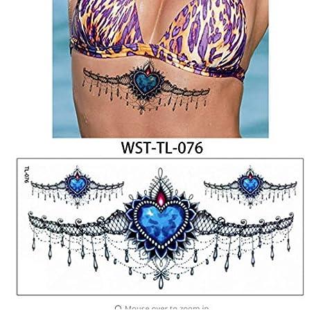 Mujeres Esternón Joyería Tatuaje Temporal Cuerpo Pecho Cintura ...