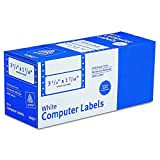 """Avery Continuous Form Computer Labels for Pin-Fed Printers 3-1/2"""" x 1-7/16"""", Box of 5,000 (4060)"""