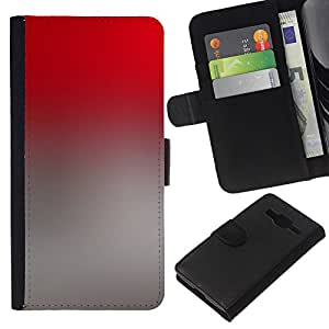 All Phone Most Case / Oferta Especial Cáscara Funda de cuero Monedero Cubierta de proteccion Caso / Wallet Case for Samsung Galaxy Core Prime // Gradient Colors Grey Red Wallpaper