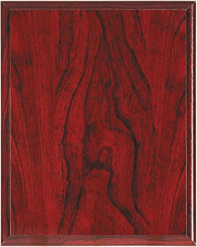 Red Woodgrain Finish Composite Wood Plaque, 9 by 12-inch