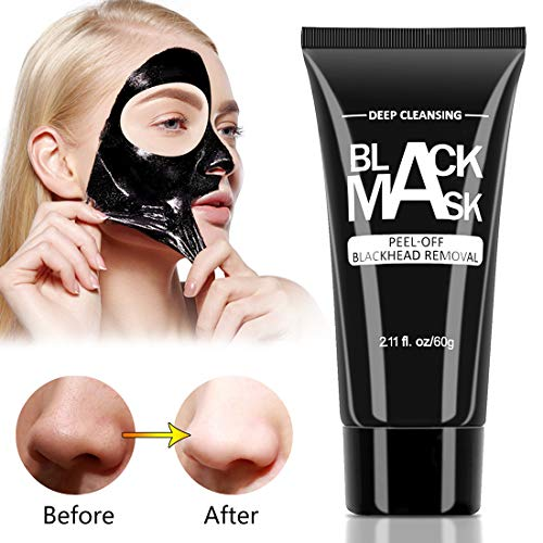 Blackhead Remover Mask Activated Charcoal Peel Off Black Mask for All Skin Types Deep Cleansing Pore & Acne by Nimiah (Best Pore Peel Off Mask)