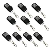 ALEKO® 10LM124 Remote Control for Gate Opener 4-Channel Remote Transmitter, Lot of 10