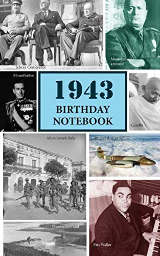 !BEST 1943 Birthday Notebook: a great alternative to a card<br />Z.I.P