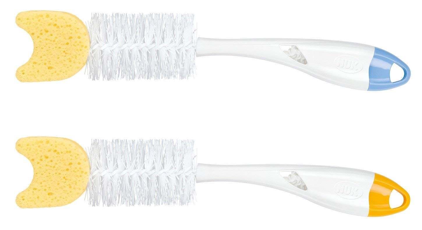 NUK 2 in 1 Bottle and Teat Brush Colours may vary