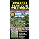 Absaroka Beartooth Wilderness: Montana, Wyoming: Outdoor Recreation Map
