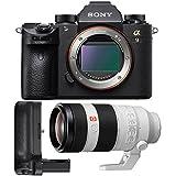 Sony a9 Full Frame Mirrorless Interchangeable-Lens Camera w/SEL100400GM F4.5–5.6 OSS Telephoto LensLens & Grip