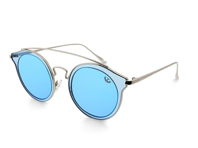 Gafas de sol mujer MOSCA NEGRA ® modelo BIG GLAM BLUE espejo ...