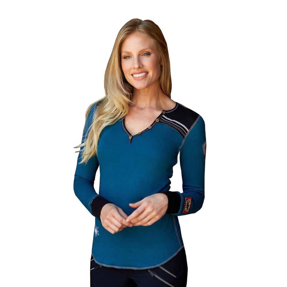 Alp-n-Rock Women's Cervo Henley Shirt (Glacier,L)