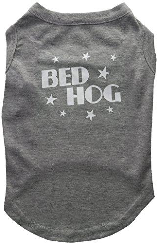 Dog Hog Pet Bed - Mirage Pet Products 14-Inch Bed Hog Screen Printed Shirt, Large, Grey