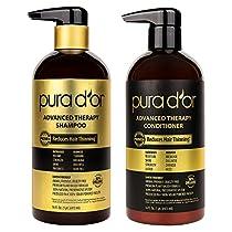 PURA DOR Advanced Therapy System Shampoo & Conditioner, Organic