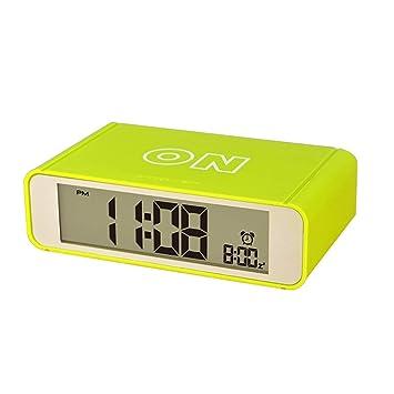 Reloj Despertador Digital, con Luz de Noche Funcion Batería, Viajar Despertadores Electrónicos para Dormitorio Oficina Niñas, Verde: Amazon.es: Hogar