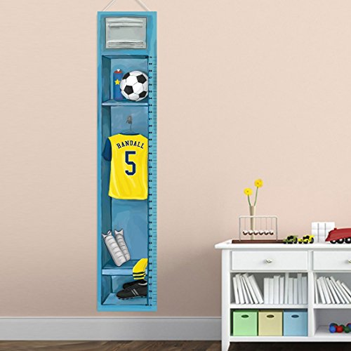 (Personalized Sports Locker Growth Chart for Boys - Soccer)