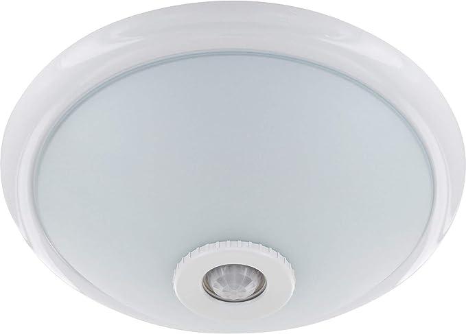 Lámpara de techo E27 con detector de movimiento PIR 360° + sensor crepuscular – carcasa