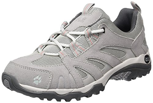 Jack Wolfskin Vojo Hike W, Zapatos de Low Rise Senderismo para Mujer Gris (Alloy)