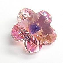 2 pcs Swarovski Elements 6744 Flower Light Rose AB Crystal Charm 14mm