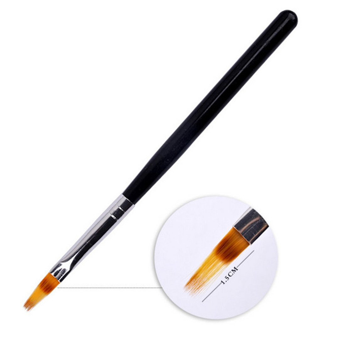New 1Pc Black Handle Nylon Hair Ombre Brush Nail Art Brushes Soft fessional Nails Manicure Tools For Gradient UV Gel Nail