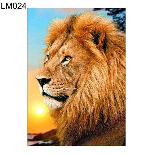 Narutosak 5D DIY Diamond Painting Rooster Deer Lion Whale Cross Stitch for Home Wall Decor Gift (30x40cm)