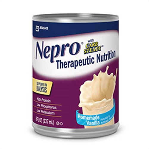 Nepro Liquid Nutrition, Homemade Vanilla, 8-Ounce Case of 24 Cans