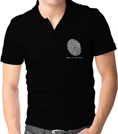Teeburon Catalan is my Identity Fingerprint Polo Camisa M ...