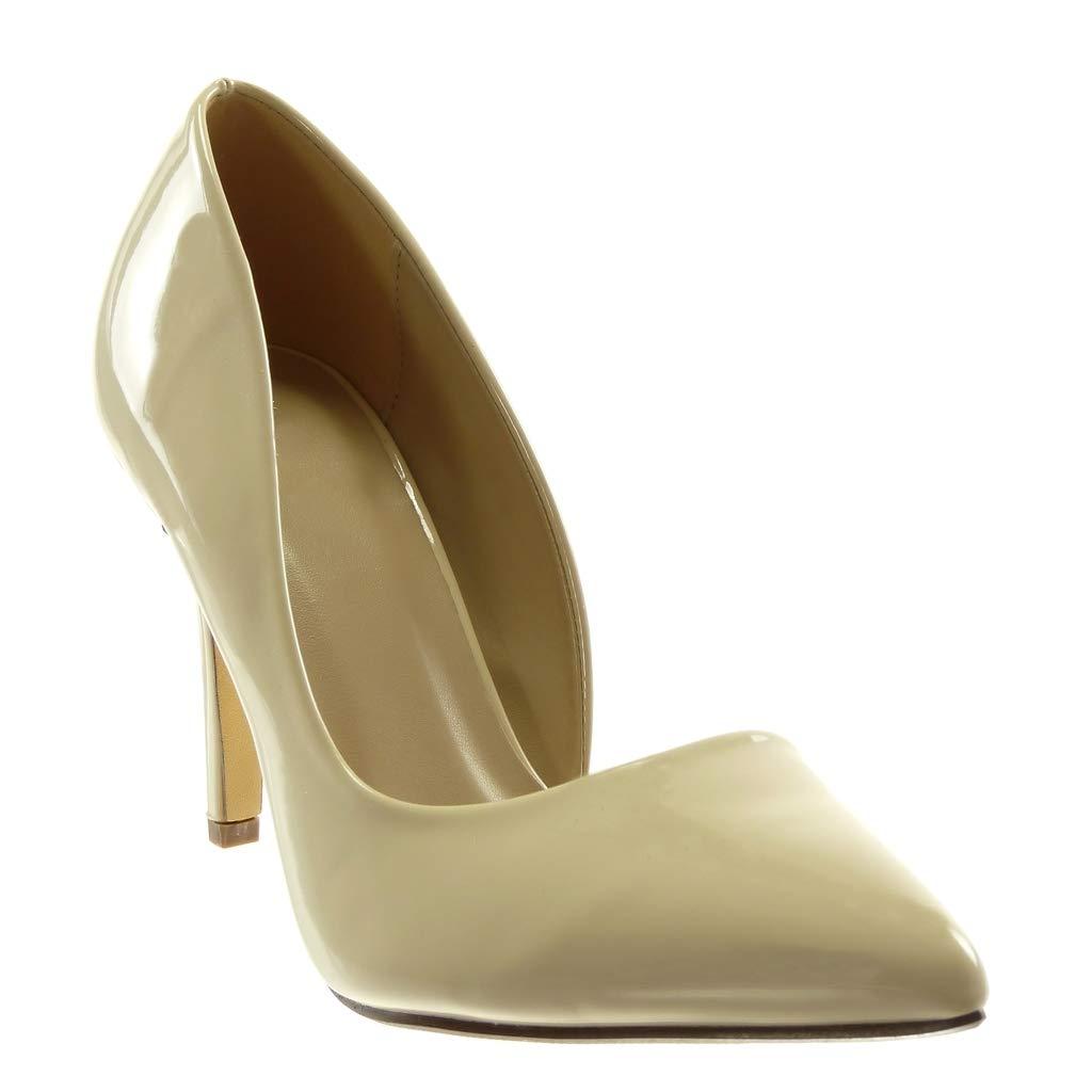 Chaussure Mode Escarpin Sandale Stiletto Slip-on Ouverte Femme Moderne Talon Haut Aiguille 10 CM Angkorly
