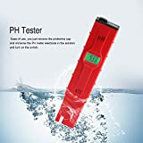 Digital PH Meter, Acogedor Protable High Accuracy 0.01 PH Tester with LCD and Temperature Compensation for Aquarium, Fishing Industry, Swimming Pool,School Laboratory, Food Beverage etc