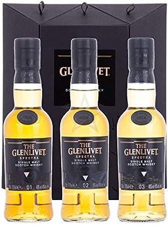 The Glenlivet SPECTRA Single Malt Scotch Whisky 40% - 3 x 200 ml in Giftbox