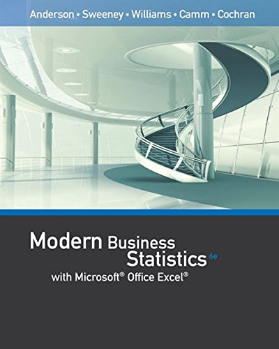 Modern Business Statistics with Microsoft Office Excel (with XLSTAT Education Edition Printed Access