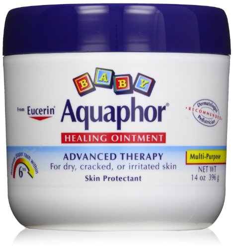 Aquaphor Baby Healing Ointment Diaper Rash and Dry Skin Protectant, Economy Pack (6 Pack-14 Ounce Each) by Aquaphor
