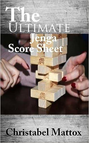 Amazoncom The Ultimate Jenga Score Sheet 9781974688142