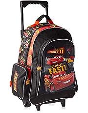 Disney Cars School Trolley Bag for Boys - Black