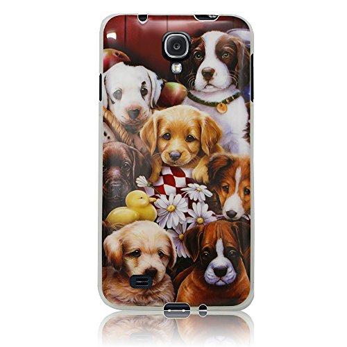 Xtra-Funky Exclusivo Samsung Galaxy S4 Mini (i9190-i9195) caja del silicón suave Los cachorros Cachorros