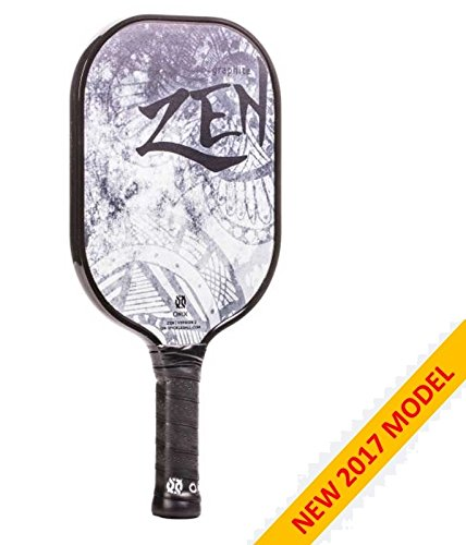 2017 Onix Graphite Zen Pickleball Paddle v2 Black by Escalade Sports
